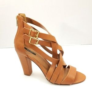 Forever 21 Chunky Heels Brown Sandals Size 10